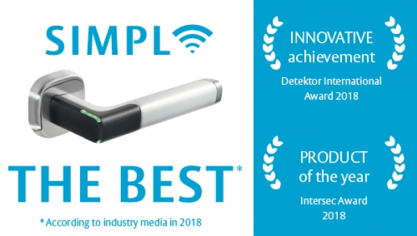 Why does the Aperio® H100 access control handle keep winning industry awards? Design, functionality, simplicity